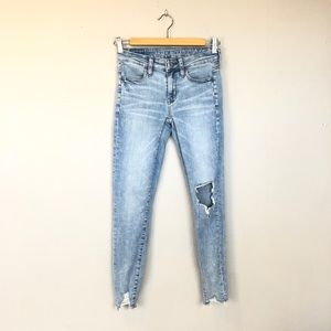 American Eagle Distressed Jean Jeggings Size 00